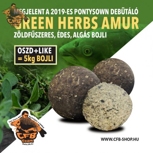 "CFB Green Herbs ""amur"" bojli"