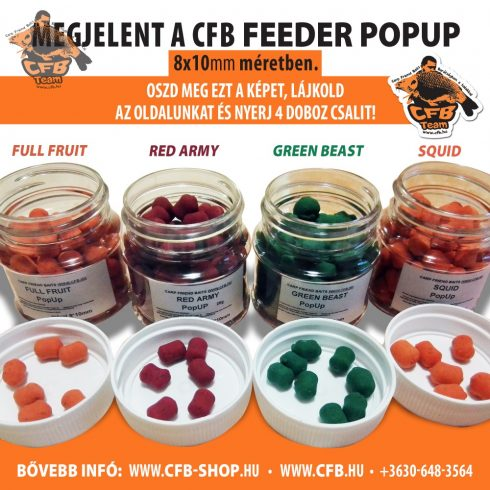FEEDER Pellet PopUp 8*10mm