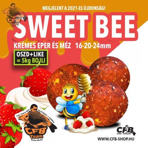 """CFB 2021 Sweet Bee  """"Eper Méz"""" Stabilizált Bojli"""